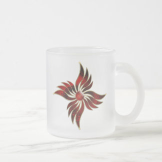 Red As the Flame Frosted Mug