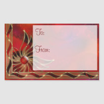 Red As the Flame Gift Tag Stickers