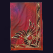 Red As the Flame Kitchen Towel