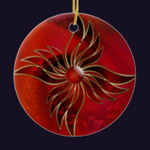 Red As the Flame Ornament