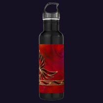 Red As the Flame Stainless Steel Water Bottle