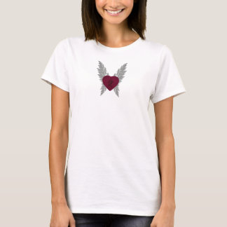 Red Asian Heart Baby Doll T-Shirt
