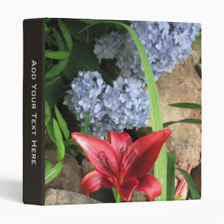 Red Asiatic Lily and Hydrangeas Binder