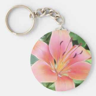 Red Asiatic Lily Keychain