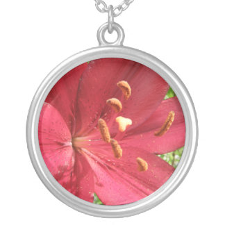 Red Asiatic Lily Photo Pendant