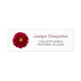 Red Aster Label