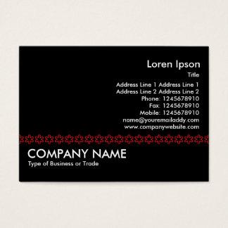 Red Asterisk Line (outline) - Black Business Card
