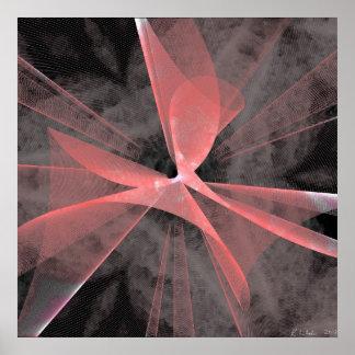 Red Asymmetric Web Poster