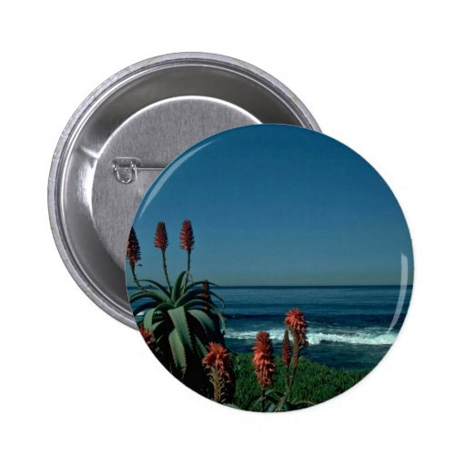 Red At The Sea 2 Inch Round Button