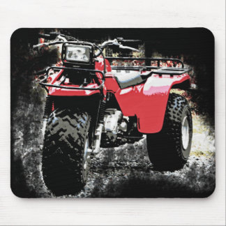 Red ATC  3 Wheeler Offroad Motorcycle on  Black Mouse Pads