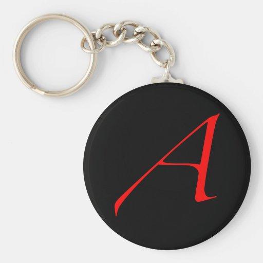 "Red Atheist ""A"" keychain"