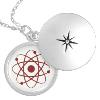 Red Atom Necklace