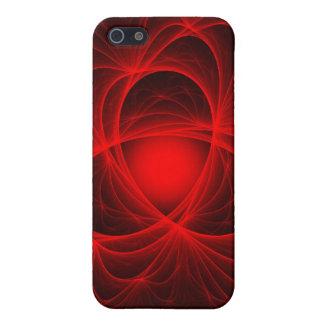 Red Atom Trails Fractal iPhone SE/5/5s Case