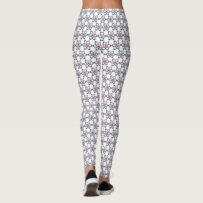 Red Atoms Design All-Over Print Leggings
