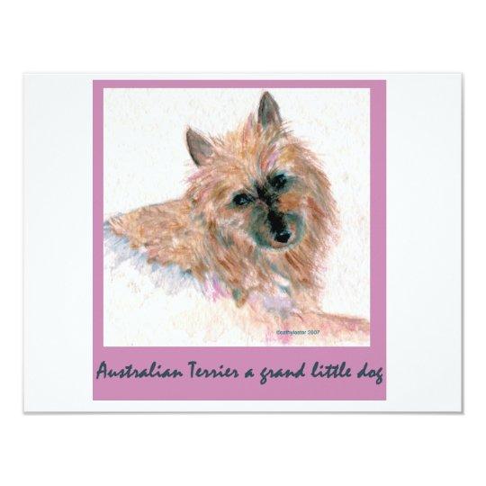 Red Australian Terrier FACE Card