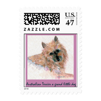 Red Australian Terrier FACE Stamp