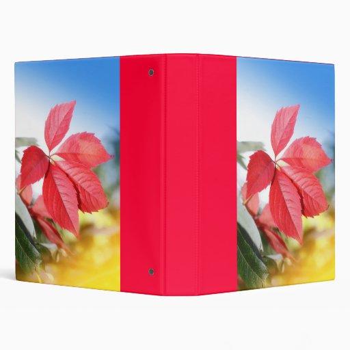 Red autumn binder
