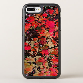Red Autumn Burning Bush Abstract Pattern OtterBox Symmetry iPhone 7 Plus Case