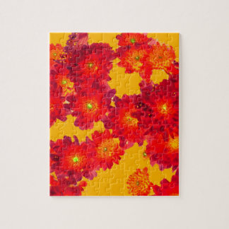 Red Autumn Fall Mums gifts by Sharles Jigsaw Puzzle