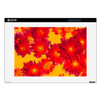 Red Autumn Fall Mums gifts by Sharles Laptop Skin