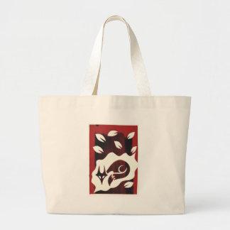 Red Autumn Fox Print Tote Bag