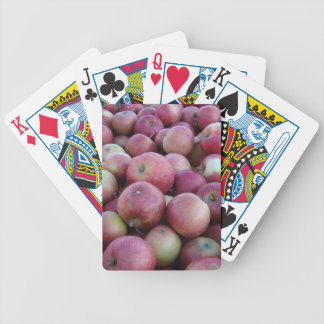 Red Autumn Harvest Apples Playing Cards Bicycle Playing Cards