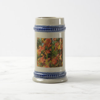 Red Autumn Leaves Beer Stein