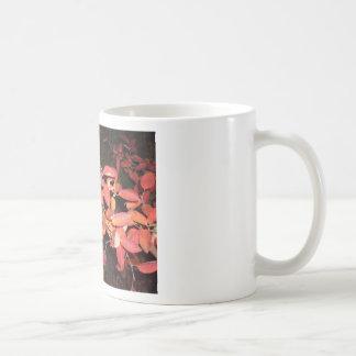 RED AUTUMN LEAVES BRANCH DARK CLASSIC WHITE COFFEE MUG