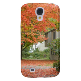 Red Autumn Leaves Falling Galaxy S4 Cover