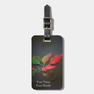 Red Autumn Leaves Floating Bag Tags
