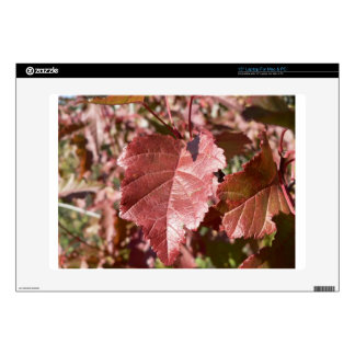 RED AUTUMN LEAVES LAPTOP DECAL
