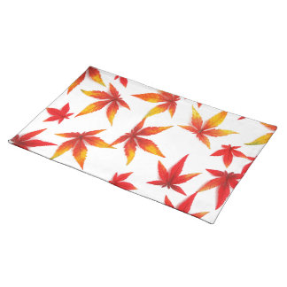 Red Autumn Leaves Placemats