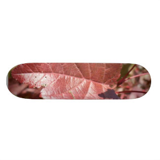 Red Autumn Leaves Skateboard Deck