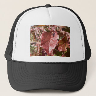 RED AUTUMN LEAVES TRUCKER HAT