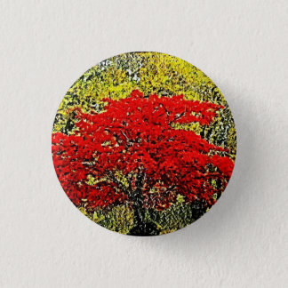 Red Autumn Painting Art Button