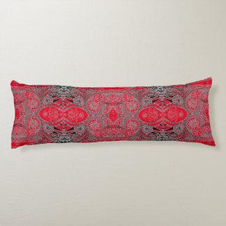 Red Autumn Paisley Body Pillow