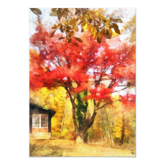 Red Autumn Sycamore Card