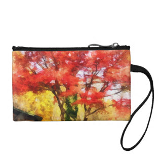Red Autumn Sycamore Coin Purses