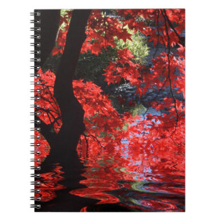 Red Autumn Tree Notebook