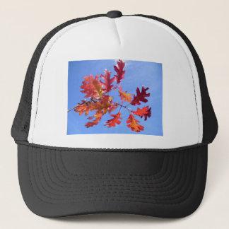 RED AUTUMN TRUCKER HAT