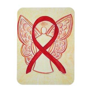 Red Awareness Ribbon Angel Art Magnet