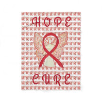 Red Awareness Ribbon Blood Cancer Chemo Blanket