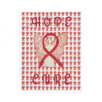 Red Awareness Ribbon Blood Cancer Chemo Blankets