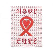 Red Awareness Ribbon Blood Cancer Fleece Blanket