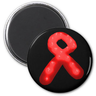 Red Awareness Ribbon Candle Refrigerator Magnets