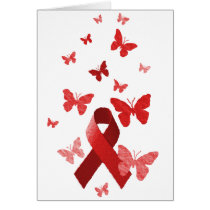 Red Awareness Ribbon Card