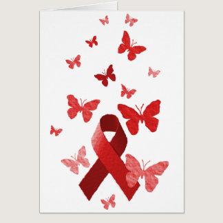 Red Awareness Ribbon Card