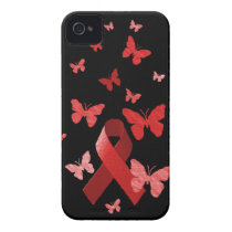 Red Awareness Ribbon Case-Mate iPhone 4 Case