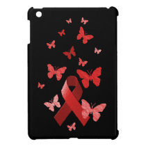 Red Awareness Ribbon Cover For The iPad Mini