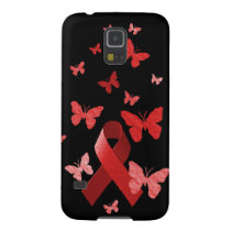 Red Awareness Ribbon Galaxy S5 Cover